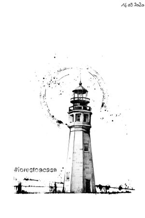 #lighthouse #leuchtturm #faro #drawing #art #iorestoacasa #quarantene