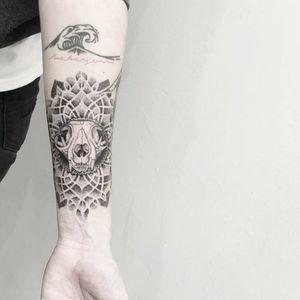 #tattoo #tattooidea #tattoodesign #tattooinspiration #tattoodo #tattooink #tattoolife #polishtattooartist #sanfranciscotattoo #berkeleytattoo #bayareatattoo #oaklandtattoo #jessejamestattoo #femaletattooartist #dotwork #mandala #catskulltattoo