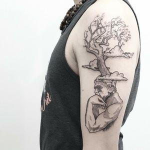 #tattoo #tattooidea #tattoodesign #tattooinspiration #tattoodo #tattooink #tattoolife #polishtattooartist #sanfranciscotattoo #berkeleytattoo #bayareatattoo #oaklandtattoo #jessejamestattoo #femaletattooartist #thethinker
