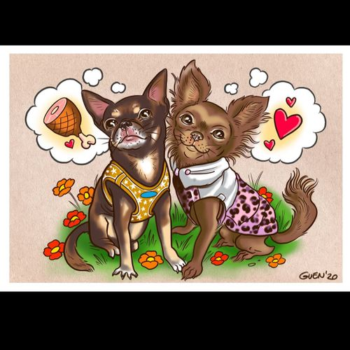 Double trouble, chichi commission by a lovely client
