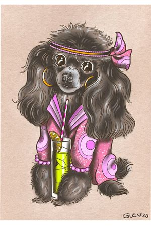 Eva the toy poodle 💕 commissioned by a lovely client during the corona closures