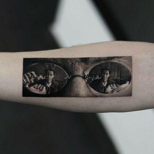 #matrix #matrixtattoo #smalltattoo #original #art #neo #neomatrix #morpheus #bluepill #redpill #blackandgrey #blackwork #sunglasses #tattooartist #cooltattoo #originalart