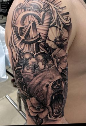 California piece I did for a client heading back to the navy. Thanks for your service bro and good luck on your journey moving up rank. Happy we got this session in to take California with u. Booking for April. Appointment only deposit required. #californiatattoo #beartattoo #poppytattoo #blackandgrey #bng #westcoast #westside #fuckcorona #fuckthatglare #cypress #oc #longbeach #peaces #bless #prayfortheworld #cali #skanvas
