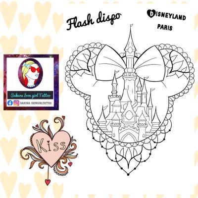 Je vous présente un flash que j'ai adoré dessiner. Des oreilles de Minnie contenant le château de Disneyland Paris.🏰🎆 @sakurairongirltattoo #tattooflash #castle #chateau #princesse #disneyland #disney #mickey #disneylandparis #fullcolortattoo #tattoofrance #francetattoo #kawaiitattoo #cutetattoo #graphictattoo #tattoographic #illustration #disneytattoo #tattoodisney #tattoo #cute #ornemental #mickey #mickeyears #ears #disneydreams #disneydream #dream