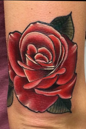 Rose above elbow from Philadelphia tattoo collective