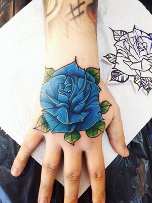 #bluerose #handtattoos