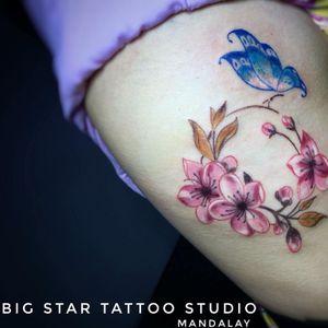 #tattoo #smalltattoo #cutetattoo #ladytattooer #tattoosforwomen #bigstartattoostudio #bigstartattoostudiomandalay #mandalay #myanmar #tattoodo