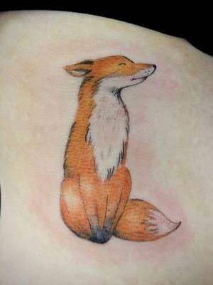#fox #foxtattoo #delicatetattoo #colortattoo