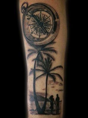 #tattooart #blackworktattoo #beachtattoo #love