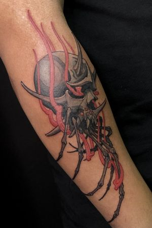 Flaming Oni skull spider. Thanks for the freedom of creativity, love doing this kind of crazy combination of subject.