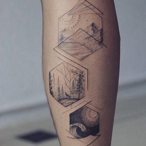 Geometric fine line nature tattoo - Tattoo Chiang Mai #geometric #fineline #nature #amazingink #tattoochiangmai #inkedmag #tatuagem #tatouage #Tattoodo #linework #bnginksociety #inkstinctsubmission #instatattoo #inkstagram #calftattoo #tattoooftheday #tattooartistchiangmai #tattooart #tattooedlife #tattooculture #onlyblackart #besttattoos #blackworktattoo #tattooaddict