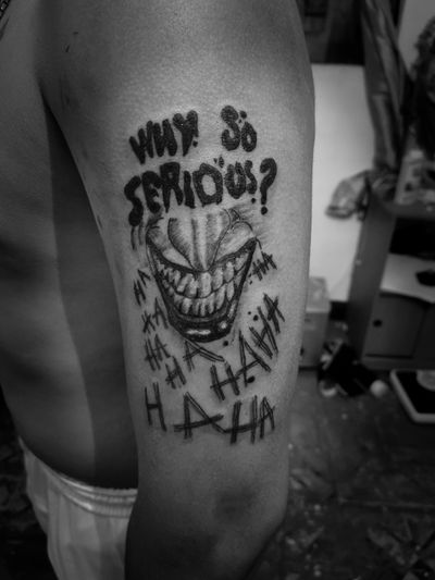 Joker #realism #blackwork #Joker #batman