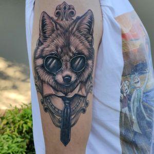 #fox #foxtattoo #blackandgrey #blackandgreytattoo