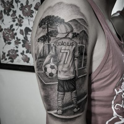 #soccer #soccertattoo #futebol #tatuagem #tattoo #blackandgrey #blackandgreytattoo
