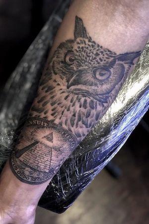 Custom owl/illuminati piece