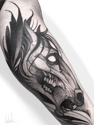 Horse 🐴 #tattoodo #art #cdmx #nyc #bogota #tatuaje