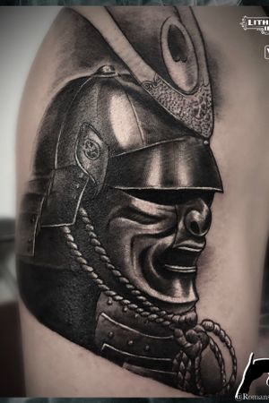 Samurai tattoo- done in my Japan trip- Okinawa island ! Cologne Köln Germany ! Stigmata-inc contact start Instagram @Romanskanajevs or tattoobyromans@gmail.com