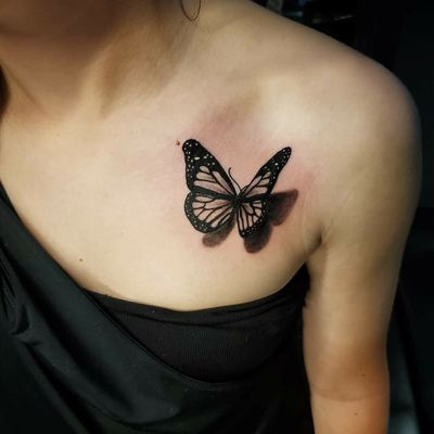 #tattoo #cooltattoos #fortworthartist #dallasartist #burlesontattoos #texastattoos #blackandgreytattoo #colortattoo #floral #flower #watercolortattoo #texasartist #inkedchick #realism #disney #butterflytattoo #butterfly #3dtattoo #3d #fortworthartist