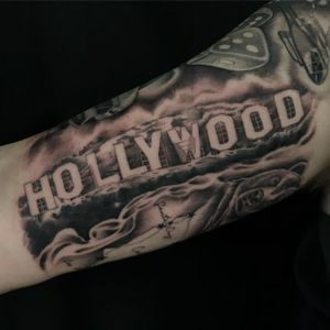 Hollywood sign coverup
