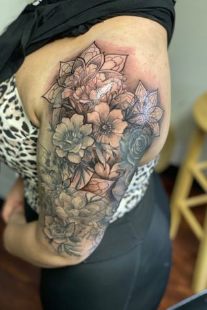 Floral sleeve session two
