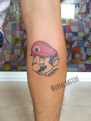 Mario bros smoke tattoo