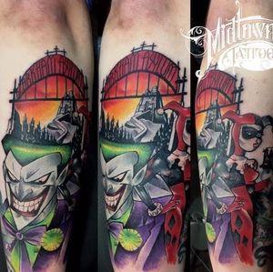 #joker on the back of lower arm
