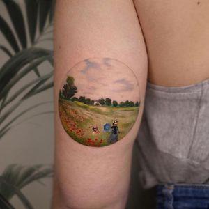 Poppy fields, Monet #monettattoo #poppyfield #minimaltattoo #arttattoo #mutazionitattoo #microrealism #catania #singleneedle #fineline #inkstinctsubmission #art #realistictattoo @equilattera @iltatuaggioitalia @tattoodo @txttooing #radtattoos @microrealism