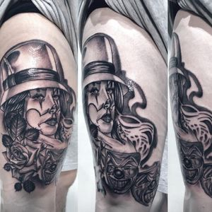 #chicano on thigh