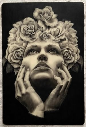 🌹 #rosestattoo #roses #portrait #realistic #realism #customdesign #nature #blackandgrey #blackandgreytattoo