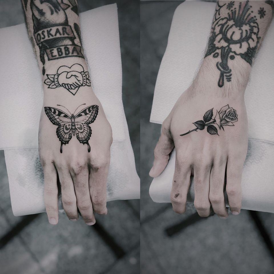 Hand tattoo by Simon Gyllstrom #SimonGyllstrom