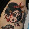 namakubi by ruby waters #rubywaters #namakubi #japanese #severedhead #sword #blood #geisha