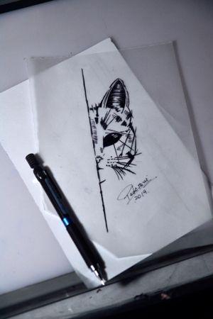 #cattattoo #sketchtattoo #gatotattoo #tatuagemgato #thiagopadovani
