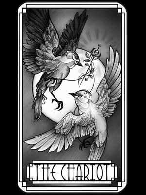 The Chariot #tarotcard #tarot #thechariot #pencilart #pencildrawing #neotraditional #neotraditionalart #available #marloeslupker #inkandintuition