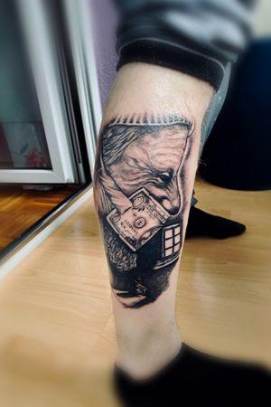 Tattoo#legtattoo #blackandgrey #fusionink #killerink #tattoomag #tattooartist #Nenad #Tattoodo