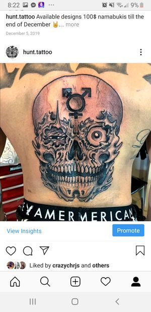Tattoo by DFA. Jolly Roger's Tattoos