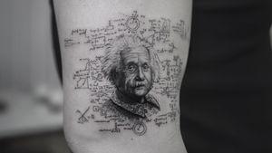 Einstein . . . . #blackworkerssubmission #inkstinctsubmission #tatts #tattoostyle #ink #tattooart #tattoomodel #tatt #inked #drawing #tattooed #bodytattoo #photooftheday #portfolio #finelinetattoo #artwork #tattoodesigns #inkdrawing #procreate #photo #tattoo #art #tattoos #tattooideas #model #blackworktattoo #instadaily #tattoed #tattoowork #tattooartist #handdrawn