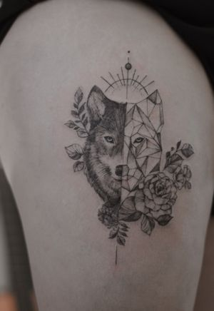 Wolf tattoo - fineline @le.sinex