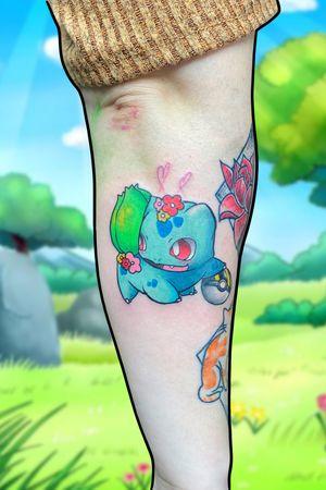 🌿 Bulbasaur done before we all got shut down #tattoos #tattoo #tattooidea #nintendotattoo #tattoolife #gamerink #tattooart #pokemon #tattooartist #tattoolove #bodyart #traditional #tattoosociety #manga #neotraditionaltattoo #happy #tattooist #tattooing #tattooer #tattooed #colour #animetattoo #anime #artist #art #pokemontattoo #bulbasaur #mariokart #neotraditional #pokémon