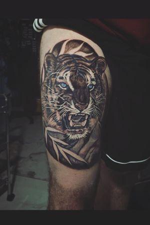 Tiger leg piece I enjoyed doing