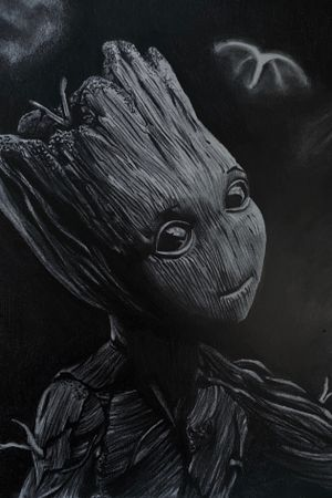 Baby groot drawing complete