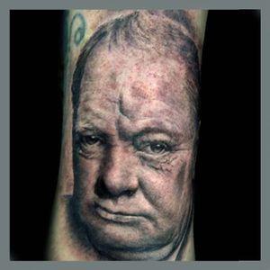 Winston Churchill - Portrait tattoo