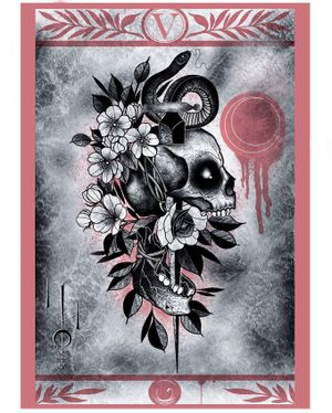 Tattoo flash/illustration by Nate Silverii aka hungryhearttattoos #NateSilverii #hungryhearttattos