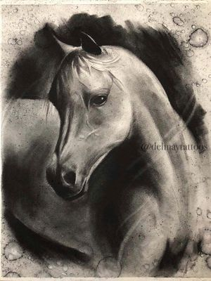 Mr Horsey original charcoal sketch