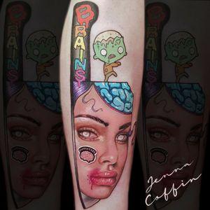 Zombie knife tattoo