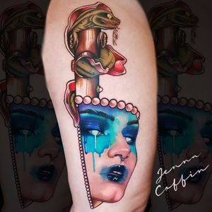 Siren custom knife tattoo neo trad