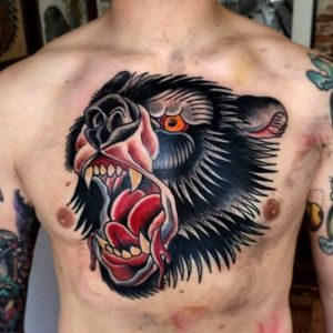 Bear chest neo traditional
