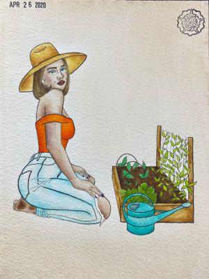 Quarantine Cutie, Gardening