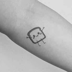 #handpoke #stickandpoke #toast #cute #kawaii #anime #cartoon #femmefatale #alienink