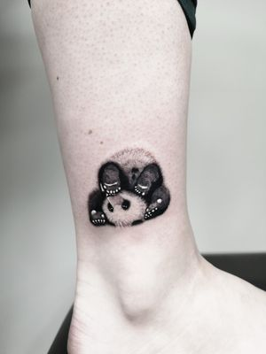 Cute panda tattoo 💜 Bookings only via Instagram.  🇱🇹 Lithuania, Kaunas 📸 Instagram: @nikita.tattoo 📨 info.artistnikita@gmail.com 🧭 #tattoo #tattoos #tattoodesign #tattooartist #linework #lineworker #lineworktattoo #thinlinetattoo #fineline #dotwork #dotworktattoo #minimalism #minimalistic #minimalistictattoo #blackwork #blackworker #blackworktattoo #kaunas #lithuania #inked #inkedgirls #ankletattoo #pandatattoo #panda