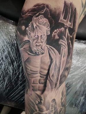 Poseidon Tattoo   Healed